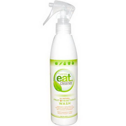 Eat Cleaner, All Natural Fruit + Vegetable Wash, 8oz