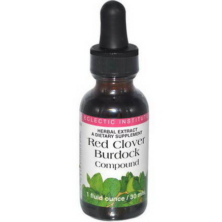 Eclectic Institute, Red Clover Burdock Compound, 1 fl oz (30 ml)