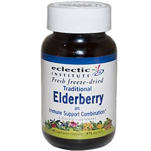 Eclectic Institute, Traditional Elderberry, 475mg Each, 90 Veggie Caps