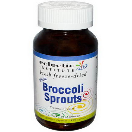 Eclectic Institute, Whole Broccoli Sprouts, 270mg, 150 Veggie Caps