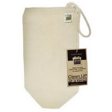 Eco-Bags Products, Recycled Cotton Canvas Lunch Sack, 1 Bag, 7