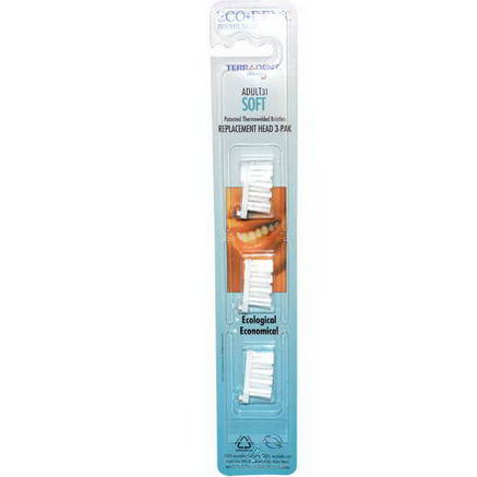 Eco-Dent, TerrAdent med5, Adult 31, Soft, Replacement Head 3-Pak