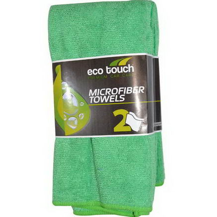 Eco Touch, Inc. Microfiber Towels, 2 Pack