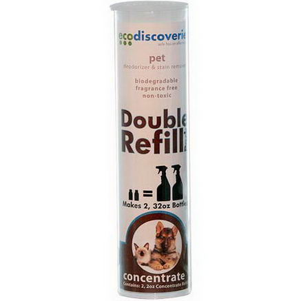 EcoDiscoveries, Double Refill Pack, Pet Deodorizer & Stain Remover, 2 fl oz (60 ml) Each