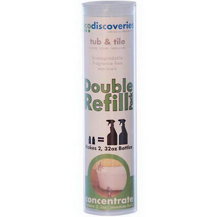 EcoDiscoveries, Double Refill Pack, Tub & Tile Soap Scum Remover, 2 fl oz (60 ml) Each