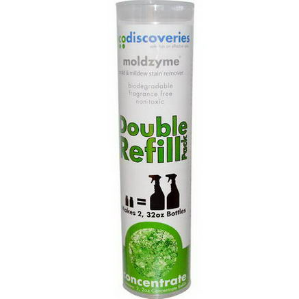 EcoDiscoveries, Moldzyme, Mold & Mildew Stain Remover, Concentrate Refills, 2-Pack