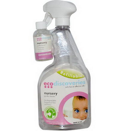 EcoDiscoveries, Nursery Gentle Cleaner, 2 fl oz (60 ml) Concentrate w/ 1 Spray Bottle