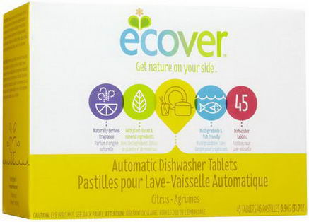 Ecover, Automatic Dishwasher Tablets, Citrus, 45 Tablets, 31.7oz (0.9 kg)