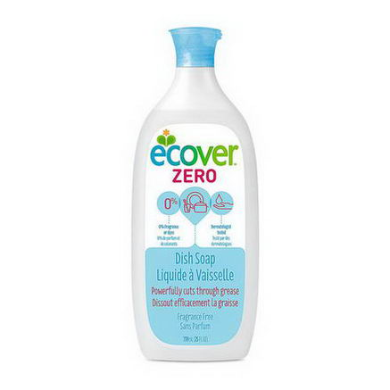 Ecover, Liquid Dish Soap, Zero, Fragrance Free, 25 fl oz (739 ml)