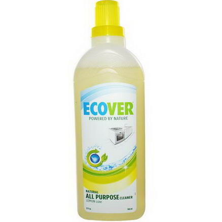 Ecover, Natural All Purpose Cleaner, Lemon Scent, 32 fl oz (946 ml)
