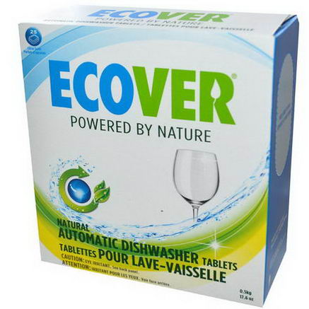 Ecover, Natural Automatic Dishwasher Tablets, Citrus Scent, 25 Tablets, 17.6oz (0.5 kg)