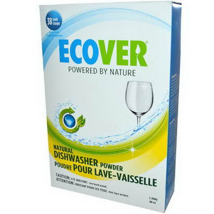 Ecover, Natural Dishwasher Powder, Citrus Scent, 48oz (1.36 kg)