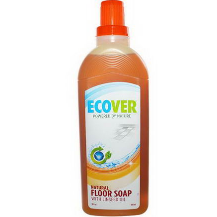 Ecover, Natural Floor Soap, with Linseed Oil, 32 fl oz (946 ml)