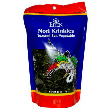 Eden Foods, Nori Krinkles, Toasted Sea Vegetable, 53oz (15g)