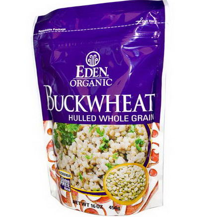 Eden Foods, Organic, Buckwheat, Hulled Whole Grain, 16oz (454g)