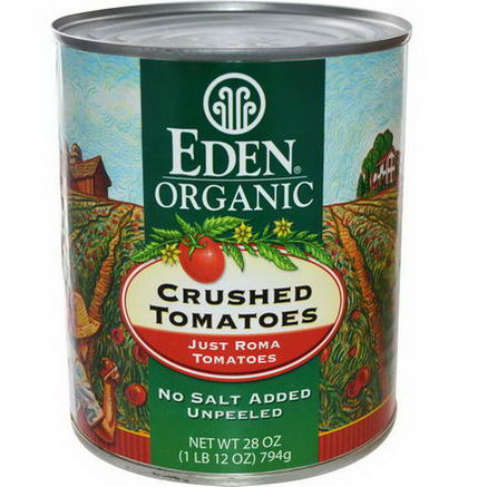Eden Foods, Organic Crushed Tomatoes, Just Roma, 28oz (794g)