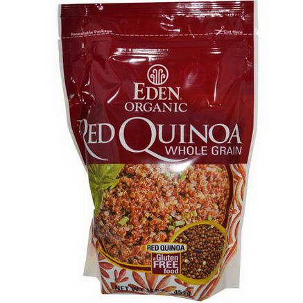 Eden Foods, Organic Red Quinoa, Whole Grain, 16oz (454g)