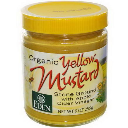 Eden Foods, Organic Yellow Mustard, 9oz (255g)