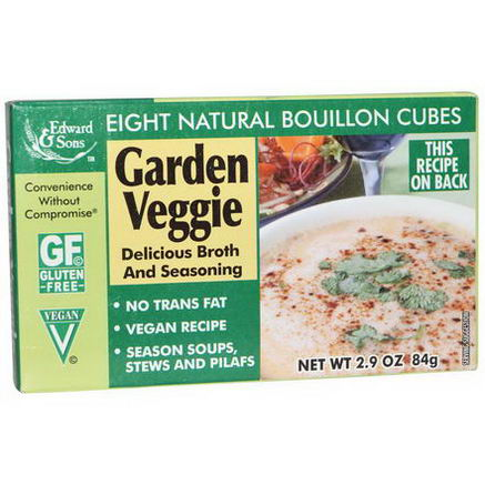 Edward & Sons, Garden Veggie Bouillon Cubes, 8 Natural Bouillon Cubes, 2.9oz (84g)