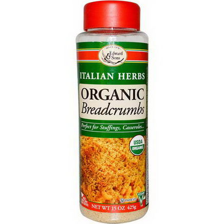 Edward & Sons, Organic Breadcrumbs, Italian Herbs, 15oz (425g)