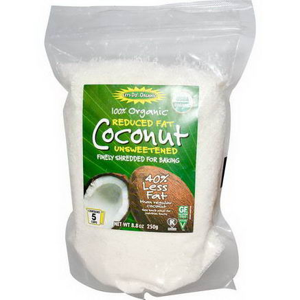 Edward & Sons, Organic Coconut, Reduced Fat, Unsweetened, 8.8oz (250g)