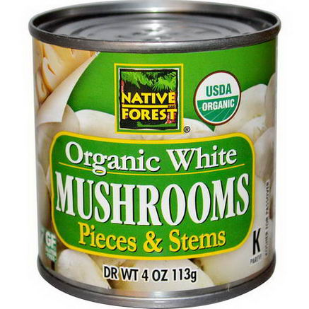 Edward & Sons, Organic White Mushrooms, Pieces & Stems, 4oz (113g)