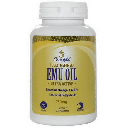 Emu Gold, Fully Refined EMU Oil, Ultra Active, 750mg, 90 Softgels