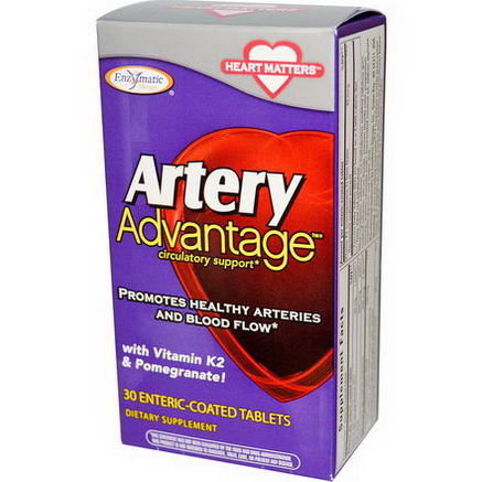 Enzymatic Therapy, Artery Advantage, 30 Enteric Coated Tablets