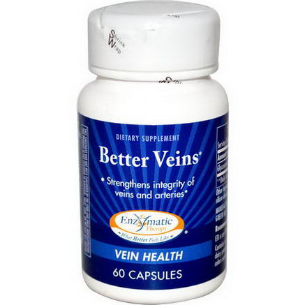 Enzymatic Therapy, Better Veins, 60 Capsules