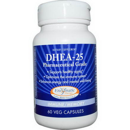 Enzymatic Therapy, DHEA-25, 60 Veggie Caps