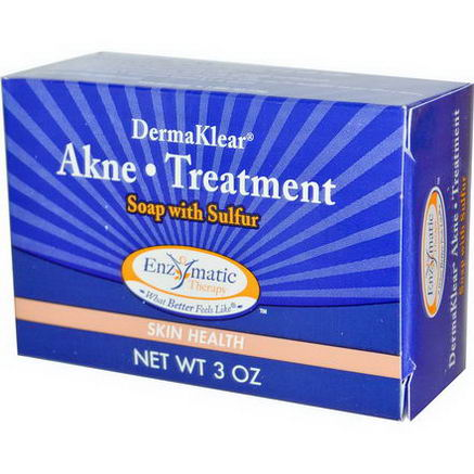 Enzymatic Therapy, DermaKlear Akne Treatment Soap with Sulfur, 3oz