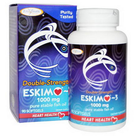 Enzymatic Therapy, Eskimo-3, Double Strength, 1000mg, 90 Softgels