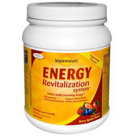 Enzymatic Therapy, Fatigued to Fantastic, Energy Revitalization System, Berry Splash Flavor, 21.6oz (612g)