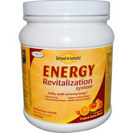 Enzymatic Therapy, Fatigued to Fantastic, Energy Revitalization System, Tropical Citrus Flavor, 25.5oz (723g)