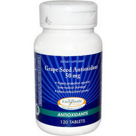 Enzymatic Therapy, Grape Seed Antioxidant, 50mg, 120 Tablets