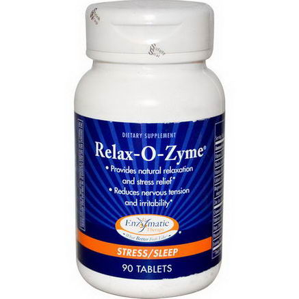 Enzymatic Therapy, Relax-O-Zyme, Stress/Sleep, 90 Tablets