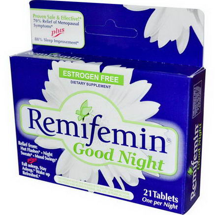 Enzymatic Therapy, Remifemin, Good Night, 21 Tablets