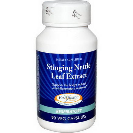 Enzymatic Therapy, Stinging Nettle Leaf Extract, Respiratory, 90 Veggie Caps