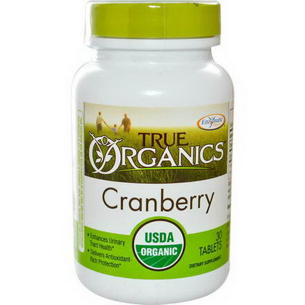 Enzymatic Therapy, True Organics, Cranberry, 30 Tablets