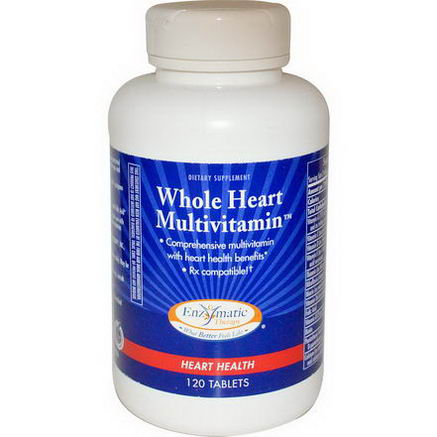 Enzymatic Therapy, Whole Heart Multivitamin, 120 Tablets
