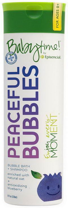 Episencial, Peaceful Bubbles, Bubble Bath + Shampoo, 8 fl oz (236 ml)