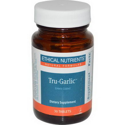 Ethical Nutrients, Tru-Garlic, 30 Tablets