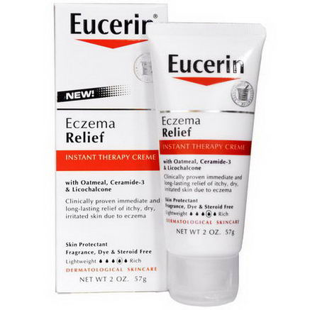 Eucerin, Eczema Relief, Instant Therapy Creme, 2oz (57g)