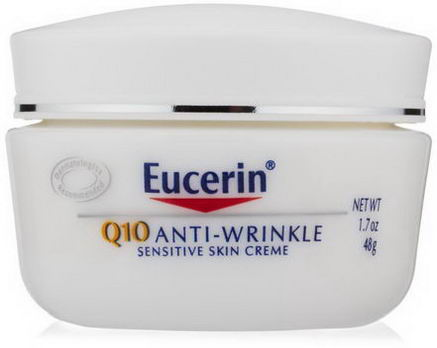 Eucerin, Q10 Anti-Wrinkle Sensitive Skin Creme, 1.7oz (48g)