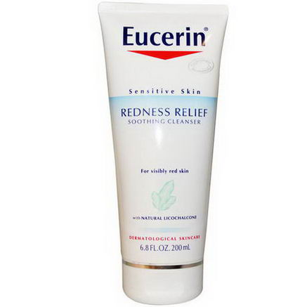 Eucerin, Redness Relief, Soothing Cleanser, Fragrance Free, 6.8 fl oz (200 ml)