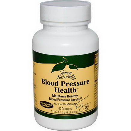 EuroPharma, Terry Naturally, Blood Pressure Health, 60 Capsules