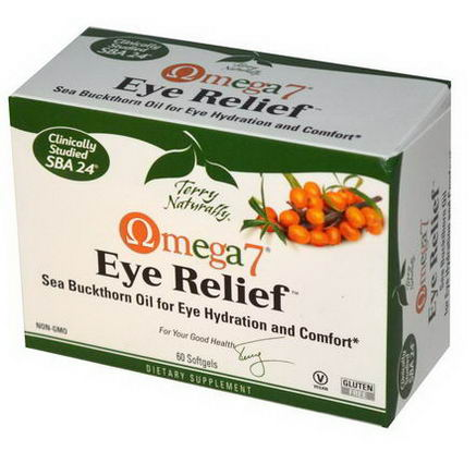 EuroPharma, Terry Naturally, Omega 7 Eye Relief, 60 Softgels