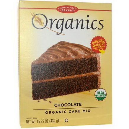 European Gourmet Bakery, Organics, Cake Mix, Chocolate, 15.25oz (432g)