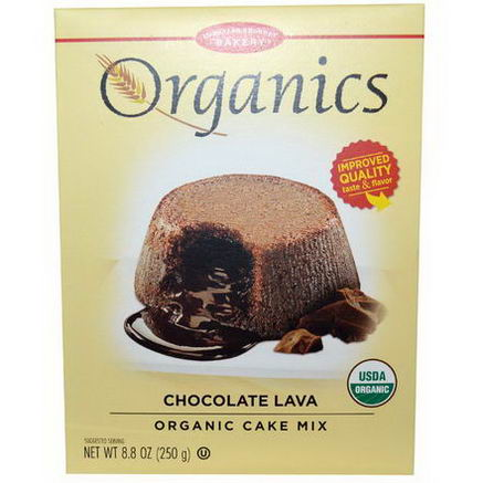 European Gourmet Bakery, Organics, Chocolate Lava Cake MIx, 8.8oz (250g)