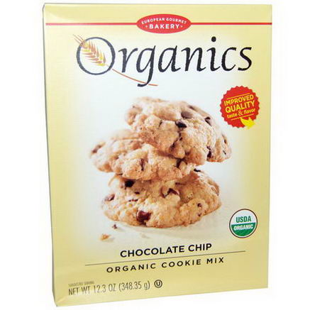 European Gourmet Bakery, Organics, Organic Cookie Mix, Chocolate Chip, 12.3oz (348.35g)